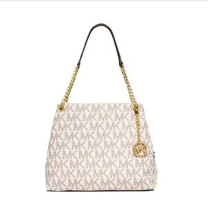 Michael Kors LG Logo Jet Set Chain Shoulder Bag